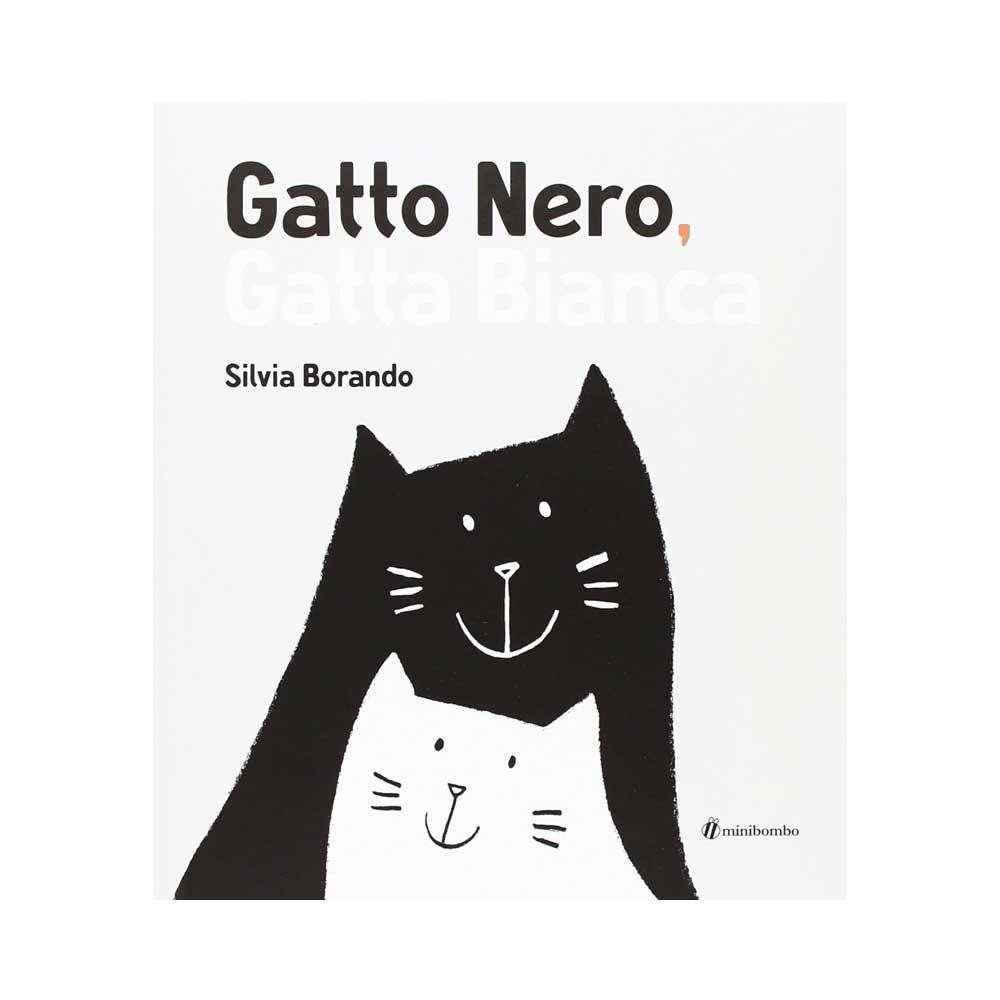 Gatto nero gatta bianca